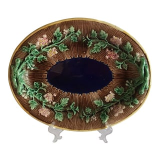 Antique Majolica Platter For Sale