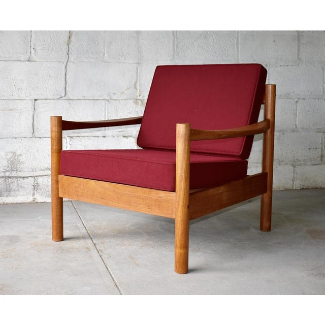 Mid Century Modern Teak Lounge Chair / Armchair For Sale - Image 9 of 9