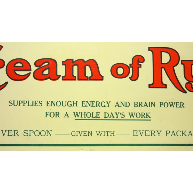 Cream of Rye Sign, Circa 1910 - Image 3 of 4