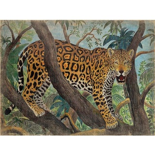 "French Panel ""Leopard Canopee"" For Sale"
