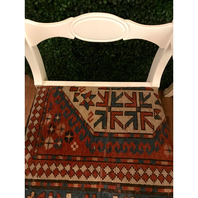 1950s S/6 Oriental Rug Upholstered Dining Chairs For Sale - Image 5 of 7