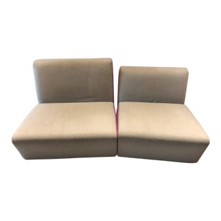 Ligne Roset Entailles Sofas- A Pair For Sale