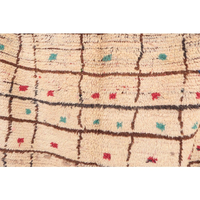 "Vintage Azilal Moroccan Rug - 4'2"" x 8'2"" - Image 2 of 4"