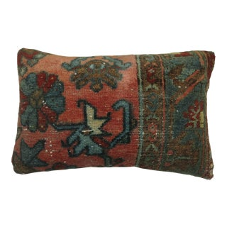 Traditional Small Lumbar Rug Pillow For Sale