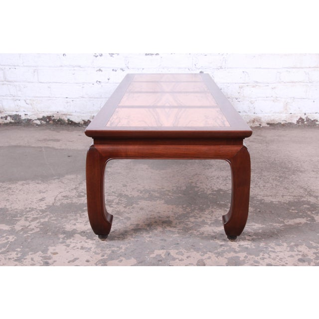 Michael Taylor for Baker Chinoiserie Rosewood and Walnut Coffee Table, Newly Restored For Sale - Image 9 of 12
