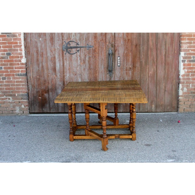 Spanish Colonial Folding Gateleg Table For Sale - Image 12 of 12