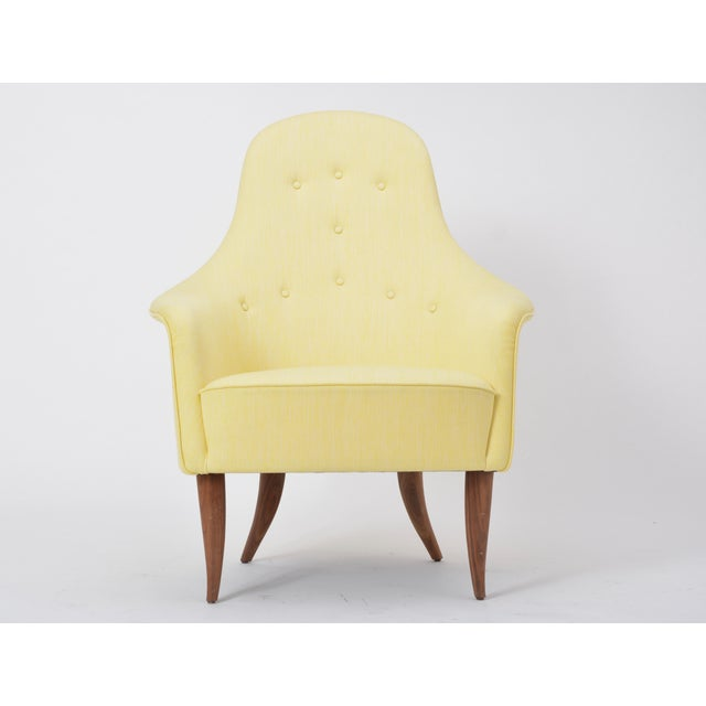 Large Adam' Reupholstered Lounge Chair With Ottoman by Kerstin Hörlin-Holmquist For Sale - Image 10 of 12
