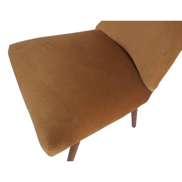 Mid-Century Modern Mid-Century Orange Velvet Accent Chair For Sale - Image 3 of 5