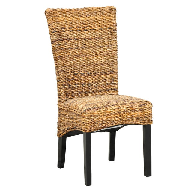 Gold Woven Rattan Dining Chair For Sale - Image 8 of 8