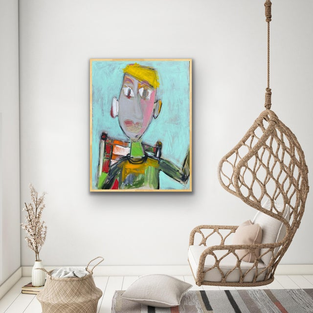 """""""Wally"""" Contemporary Abstract Figure Acrylic Painting by Sarah Trundle For Sale - Image 6 of 6"""