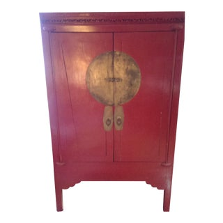 Red Lacquer Chinese Wedding Chest
