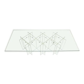 Mid-Century Modern Lucite & Glass Coffee Table For Sale