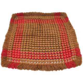 19thc Handwoven Table Mat From Pennsylvania For Sale