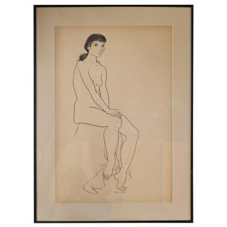 Jerry O'Day Nude Drawing #1 For Sale