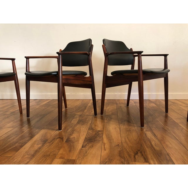 Brown Rosewood Chairs by Arne Vodder for Sibast Furniture, Made in Denmark, Set of 6 For Sale - Image 8 of 13