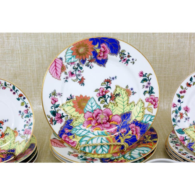 Asian Tobacco Leaf Dishes by Horchow - Set of 16 For Sale - Image 3 of 12