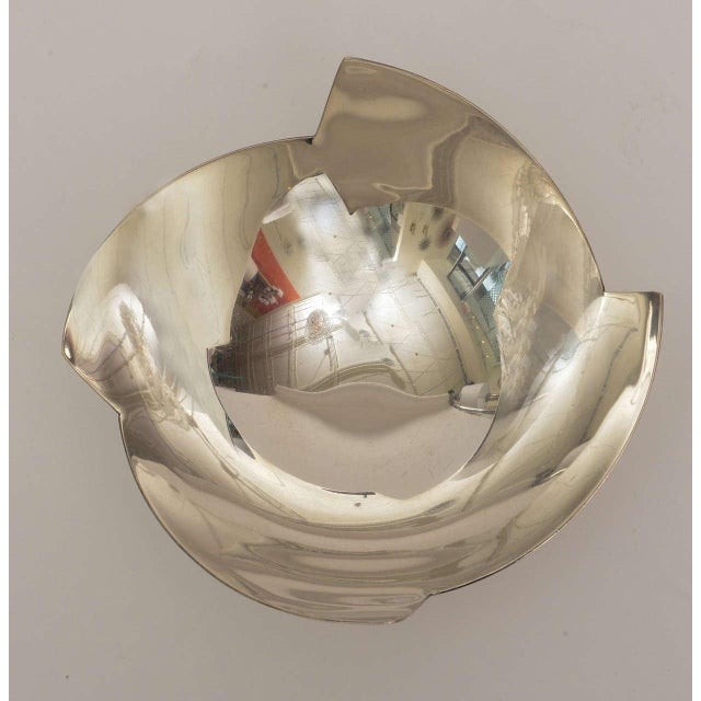 Silver Signed Sculptural Silver Plate Bowl by Elsa Rady for Swid Powell For Sale - Image 8 of 11