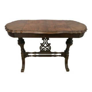 19th Century Lyre—shaped Renaissance Trestle Table For Sale
