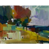 Image of Jose Trujillo Abstract Landscape Oil Painting For Sale