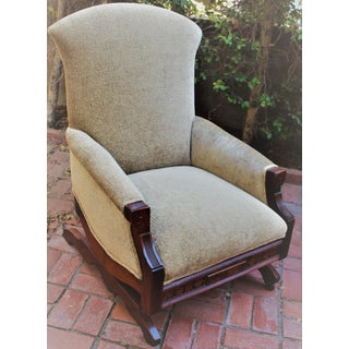 Early American Eastlake Platform Rocking Arm Chair Preview