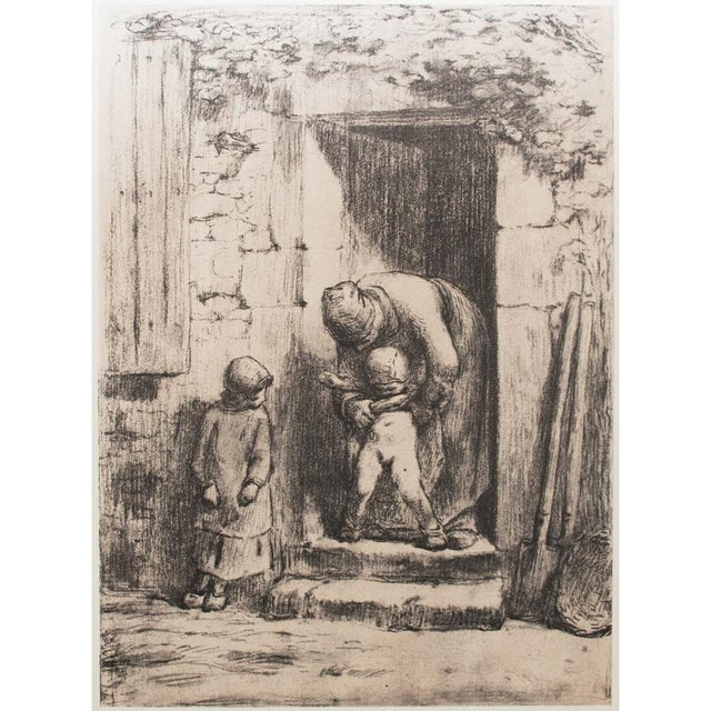 "Jean-François Millet, ""Maternal Duties"" 1959 Large Hungarian Print For Sale In Dallas - Image 6 of 8"