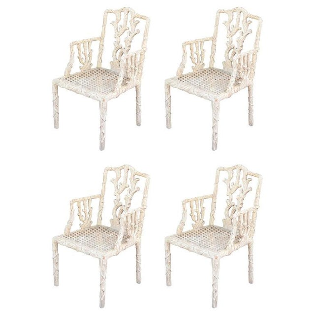 Decorative Branch Faux-Bois Chairs - Set of 4 - Image 1 of 10