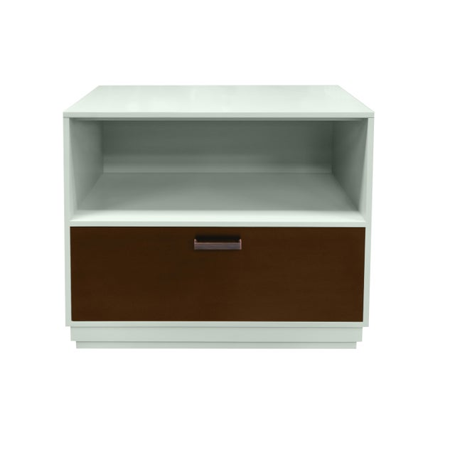 Minimalistic Maple Filing Cabinet From Garden Street in Ocean With a Stained Drawer For Sale - Image 6 of 6