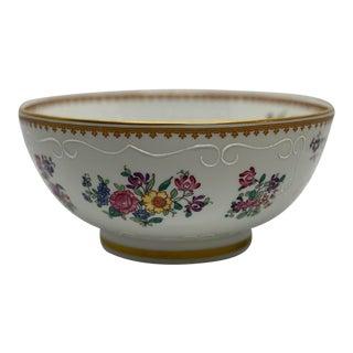 Mid 20th Century French Sperabo Porcelain Floral & Fruit Bowl For Sale
