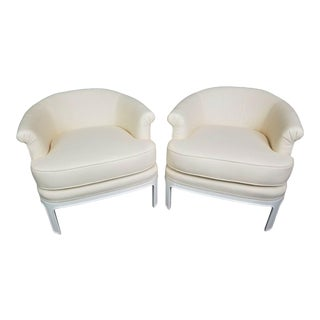 Hollywood Regency Tomlinson Club Chairs - a Pair For Sale