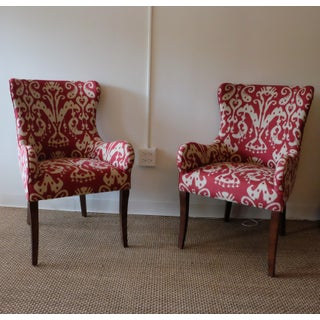 Lee Ikat Armchairs - a Pair Floor Sample Preview