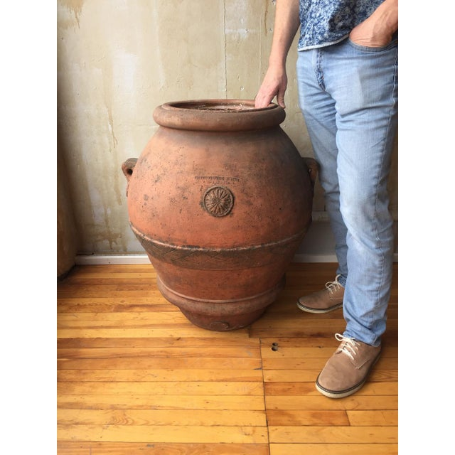 Antique Italian Terra Cotta Oil Pot For Sale In Kansas City - Image 6 of 8