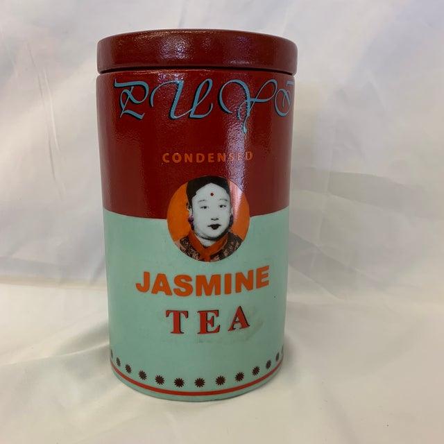 Fabienne Jouvin Paris Pop Art Ceramic Tea Jar For Sale - Image 4 of 11