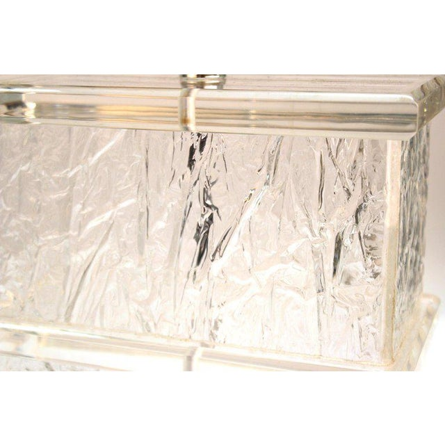 Mid-Century Modern Lucite Crackle Table Lamps With Black Shades - a Pair For Sale - Image 9 of 13