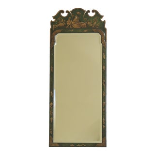 Friedman Brothers for Kittinger Chinoiserie Colonial Williamsburg Green Mirror For Sale