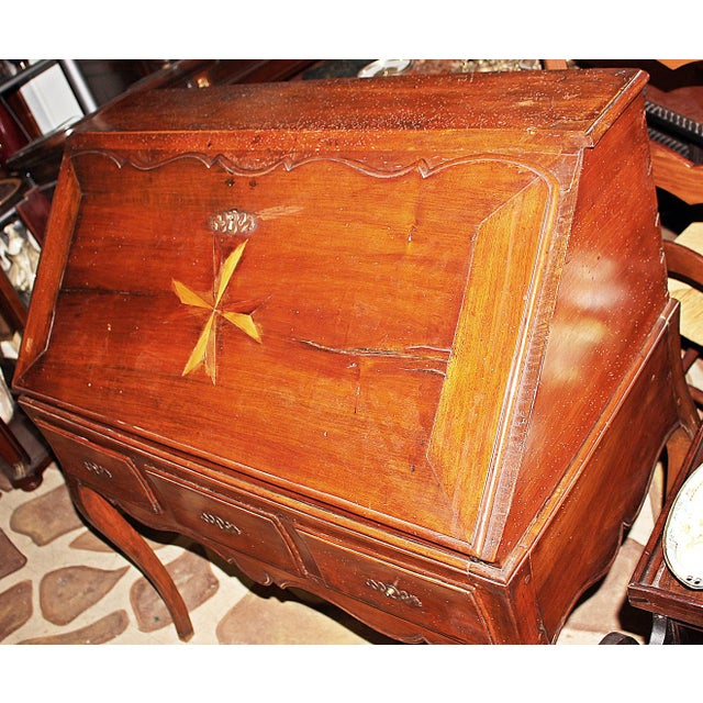 Metal Late 18th Century Italian Writing Desk For Sale - Image 7 of 12