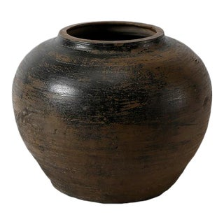 1900's Asian Antique Ceramic Jar For Sale