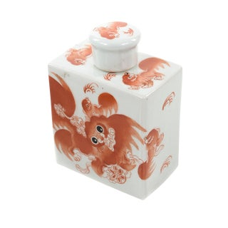 Antique Chinese Calligraphy Porcelain Bottle For Sale