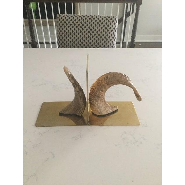 Handmade Brass & Horn Bookends - A Pair - Image 2 of 7