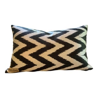 """Contemporary Found Object Chevron Pillow - 22.5"""" X 15 For Sale"""