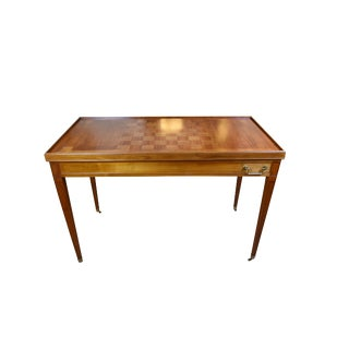 Louis XVI Style Walnut Game Table With Reversible Top For Sale