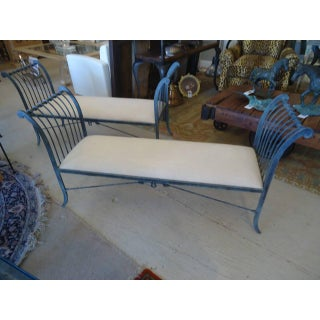 Pair of Stunning Neoclassical Iron Window Benches by Niermann Weeks Preview