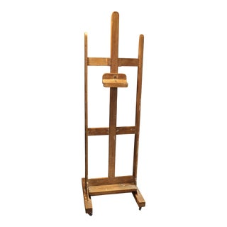 Painter's Studio Easel from France, circa 1940 For Sale