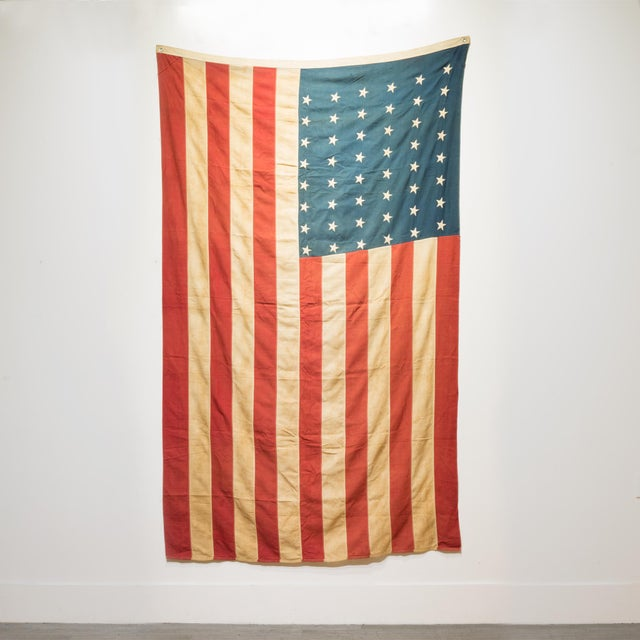 Early 20th C. Large American Flag With 48 Stars C. 1940 For Sale - Image 4 of 4