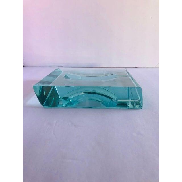 Glass Beveled Glass Ashtray by Fontana Arte For Sale - Image 7 of 12