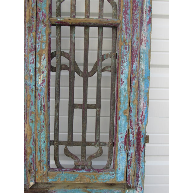 Architectural Mediterranean Door with Iron Grill - Image 5 of 9