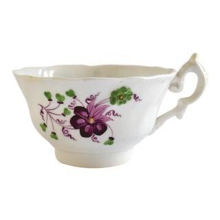 Antique Georgian Teacup With Violets For Sale