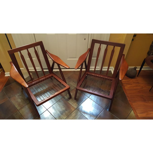 1960s Danish Modern Hovmand Olsen Lounge Chairs - a Pair For Sale - Image 9 of 13