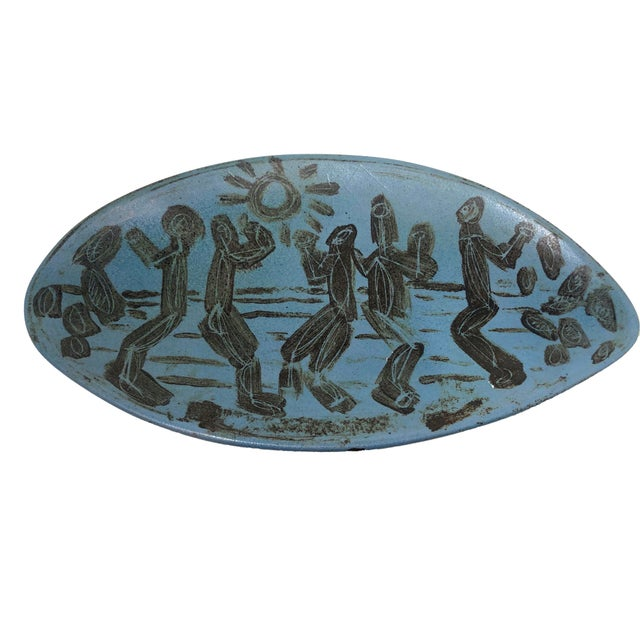 1950s 1950s Mid-Century Modern Studio Pottery Dish For Sale - Image 5 of 5