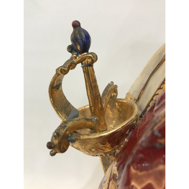Professor E. Pattarino Monumental Early 20th Century Italian Gilt Terracotta Cyrano De Bergerac Statue Figurine For Sale - Image 9 of 13