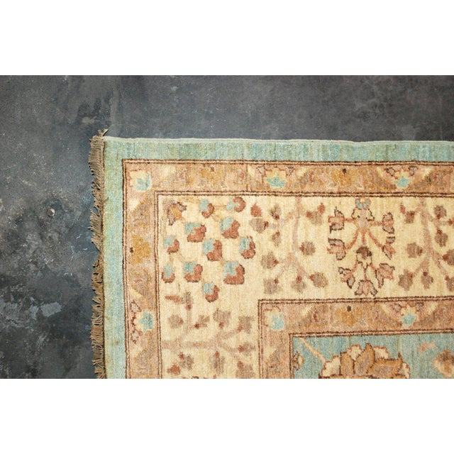 Textile 20th Century Chobi Blue Rug - 7′11″ × 9′9″ For Sale - Image 7 of 8